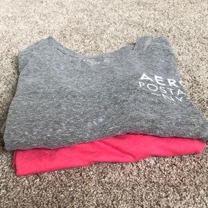 two Aeropostale shirts